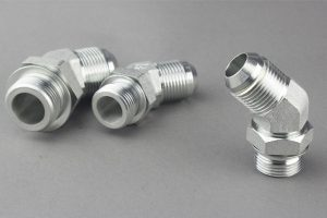 45 Degree Elbow Male Adjustable Stud End Bsp Hydraulic Hose Adaptor Fitting With Oring And Washer