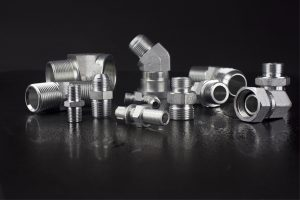 Accg-og / addg-og Bsp Thread laras Stud End Dengan O-ring Sealing Run Tee Carbon Steel Hydraulic Hose Fittings Andadapters