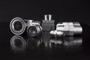 Harga Kilang Standard Carbon Steel Hydraulic Adapter Metric Thread Fittings With Seal Captive