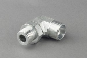 Carbon Steel 90 Degree Elbow Hydraulic Adapters With Bsp Thread