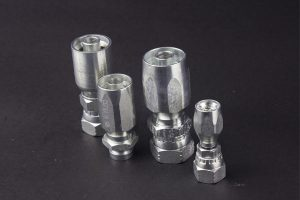 Metric White Galvanized Hydraulic Carbon Steel Flare Fitting