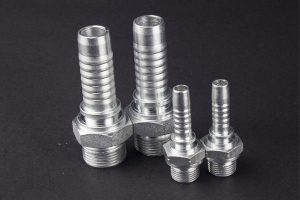 High quality carbon steel male bspp/bspt/npt/jic threaded hose fitting